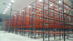 warehouse pallet rack installation